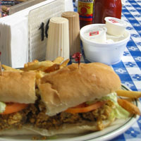 Oyster po'boys somewhere in Louisiana