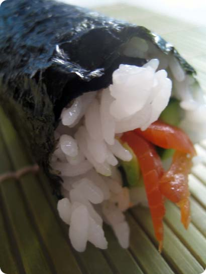 My very first and untrimmed california roll