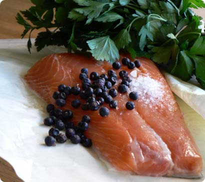 Juniper Berries and Salmon Are a Match Made in Heaven