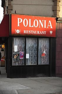 Polonia restaurant in Greenpoint, NYC